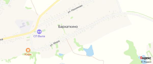 Улица Мира на карте деревни Бархаткино с номерами домов
