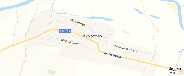 Карта села Ахматово в Чувашии с улицами и номерами домов