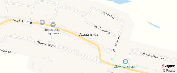 Улица Горького на карте села Ахматово с номерами домов