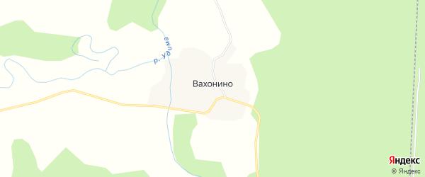 Карта деревни Вахонино в Архангельской области с улицами и номерами домов