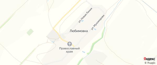Карта села Любимовки в Чувашии с улицами и номерами домов
