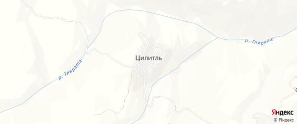 Карта села Цилитля в Дагестане с улицами и номерами домов