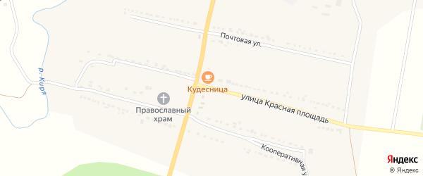 Улица Красная Площадь на карте села Кудеихи с номерами домов