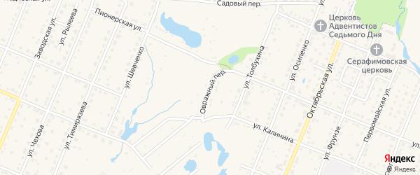 Овражный переулок на карте Шумерли с номерами домов