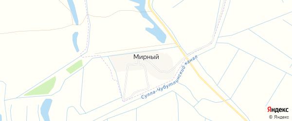 Карта Мирного поселка в Чечне с улицами и номерами домов