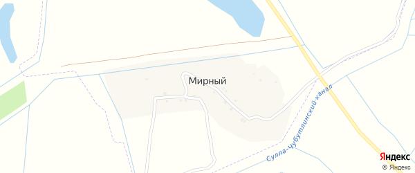 Улица Джанибекова на карте Мирного поселка с номерами домов