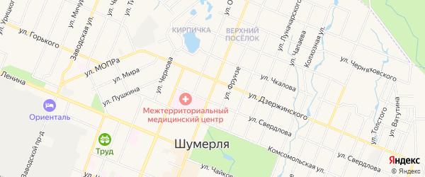 ГСК Мотор-1 на карте Октябрьской улицы с номерами домов
