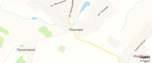 Карта села Пошнар в Чувашии с улицами и номерами домов