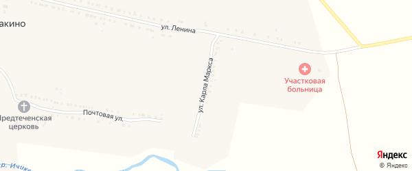 Улица Карла Маркса на карте села Кувакино с номерами домов