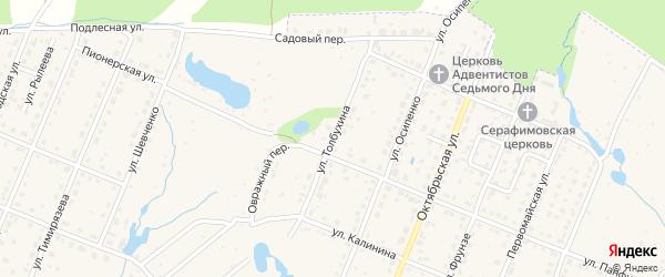 Улица Толбухина на карте Шумерли с номерами домов