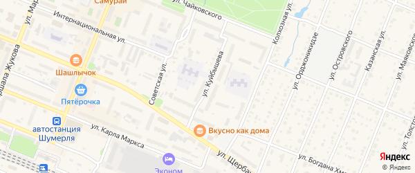 Улица Куйбышева на карте Шумерли с номерами домов
