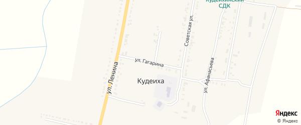 Улица Гагарина на карте села Кудеихи с номерами домов