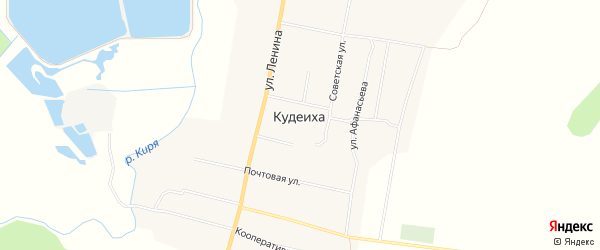 Карта села Кудеихи в Чувашии с улицами и номерами домов