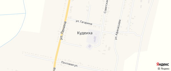 Октябрьская улица на карте села Кудеихи с номерами домов