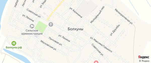 Бугрянская улица на карте села Болхуны с номерами домов