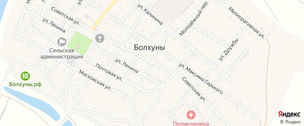 Советская улица на карте села Болхуны с номерами домов