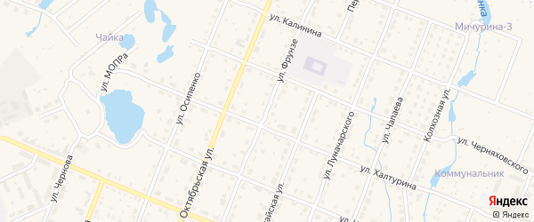 Улица Фрунзе на карте Шумерли с номерами домов