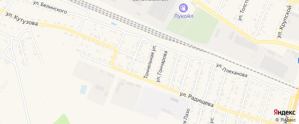 Тоннельная улица на карте Шумерли с номерами домов