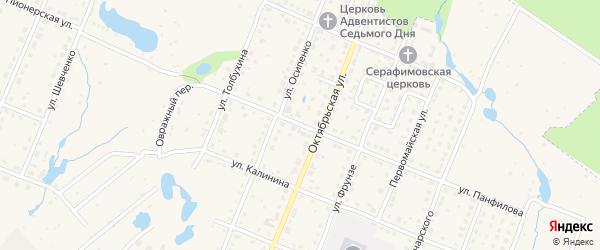 Улица Панфилова на карте Шумерли с номерами домов