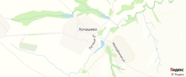 Карта села Хочашево в Чувашии с улицами и номерами домов