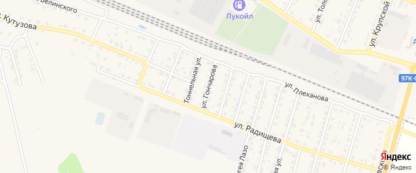 Улица Гончарова на карте Шумерли с номерами домов