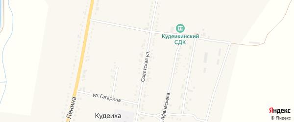 Советская улица на карте села Кудеихи с номерами домов