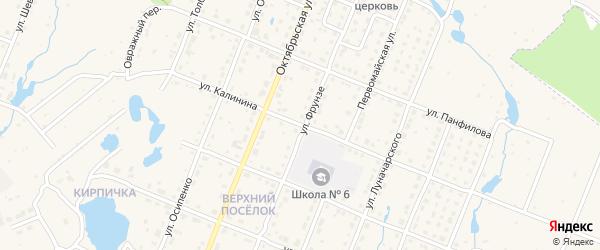 Улица Калинина на карте Шумерли с номерами домов