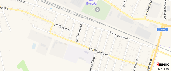 Улица Пархоменко на карте Шумерли с номерами домов