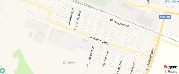 Улица Радищева на карте Шумерли с номерами домов