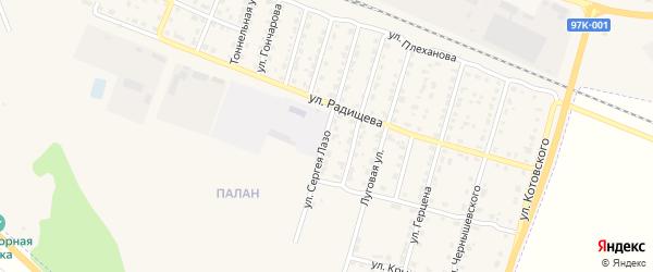 Улица Сергея Лазо на карте Шумерли с номерами домов