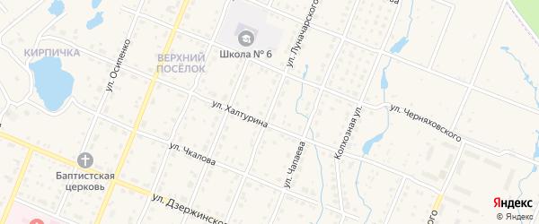 Улица Луначарского на карте Шумерли с номерами домов