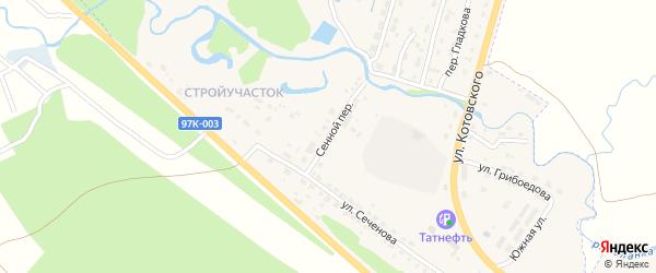 Сенной переулок на карте Шумерли с номерами домов