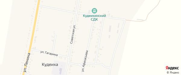 Улица Афанасьева на карте села Кудеихи с номерами домов