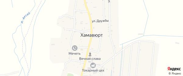 Поселковая улица на карте села Хамавюрта с номерами домов