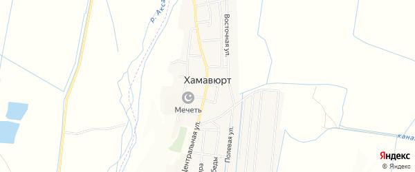 Карта села Хамавюрта в Дагестане с улицами и номерами домов
