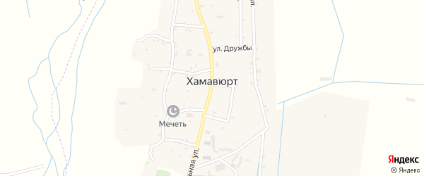 Шоссейная улица на карте села Хамавюрта с номерами домов