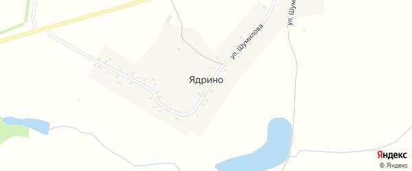 Шоссейная улица на карте села Ядрино с номерами домов