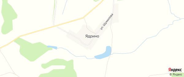 Карта села Ядрино в Чувашии с улицами и номерами домов