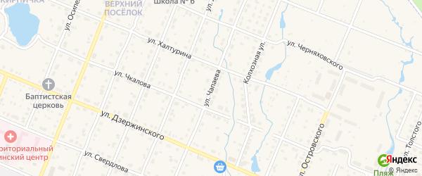 Улица Чапаева на карте Шумерли с номерами домов