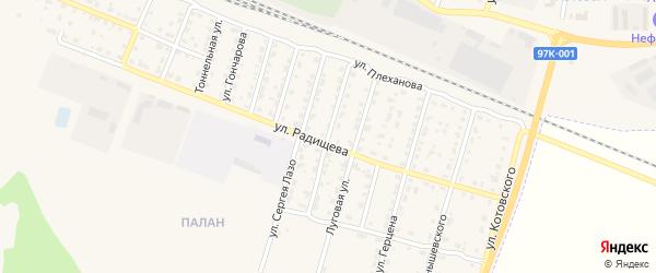 Улица Константина Иванова на карте Шумерли с номерами домов