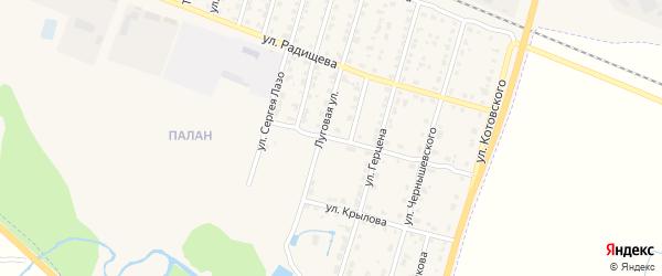 Улица Тургенева на карте Шумерли с номерами домов