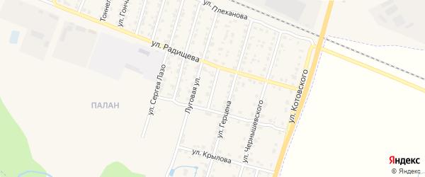 Улица Достоевского на карте Шумерли с номерами домов