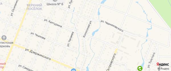 Улица Халтурина на карте Шумерли с номерами домов