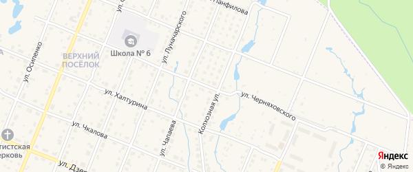 Улица Черняховского на карте Шумерли с номерами домов