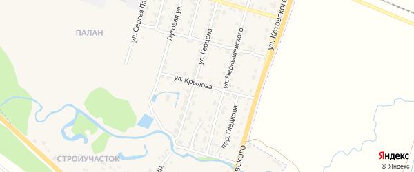 Улица Крылова на карте Шумерли с номерами домов