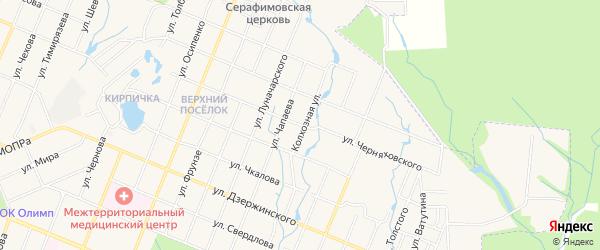 ГСК Чайка на карте улицы Черняховского с номерами домов