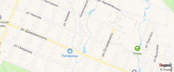 Улица Чкалова на карте Шумерли с номерами домов