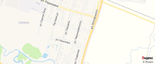 Улица Чернышевского на карте Шумерли с номерами домов