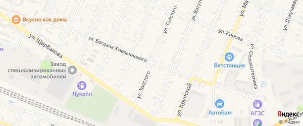 Улица Б.Хмельницкого на карте Шумерли с номерами домов