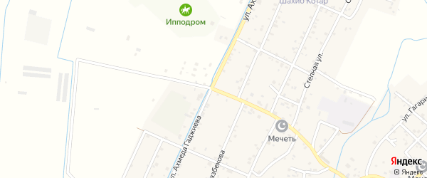 Улица Гамзата Цадасы на карте села Аксая с номерами домов